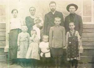 Колесников Иван Михайлович с семьей